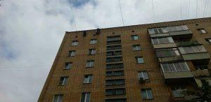 Мытье здания по ул. Бориса Галушкина 10